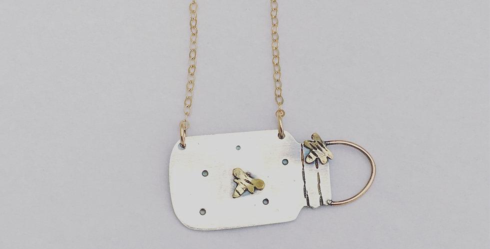 Sterling Silver Firefly Pendant Handmade In UK