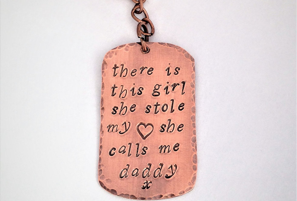 Keyring for Daddy, Fathers Day Gift Keychain