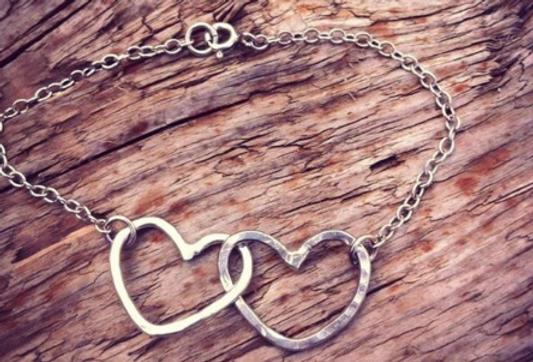 Sterling Silver Entwined Heart Bracelet