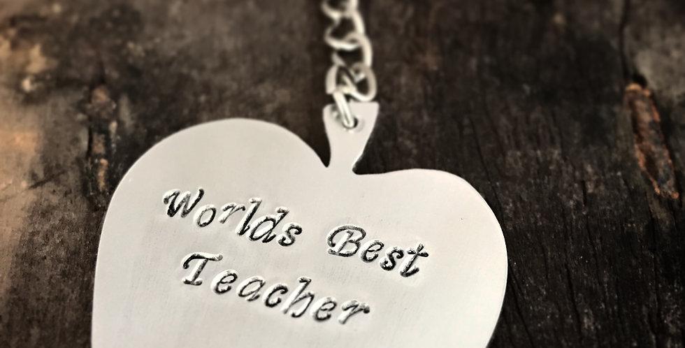 Teachers end of Term Gift Personalised Apple Keyring