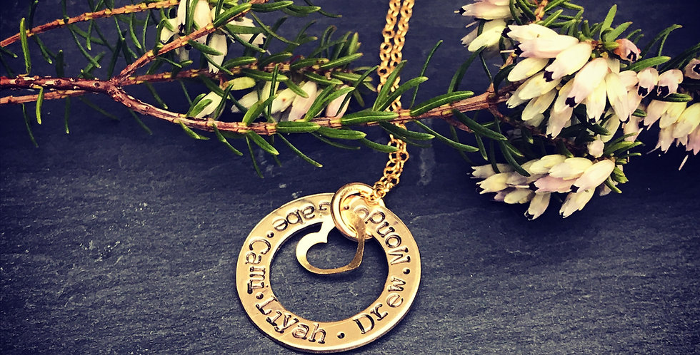 Personalised Gold Filled Washer Necklace