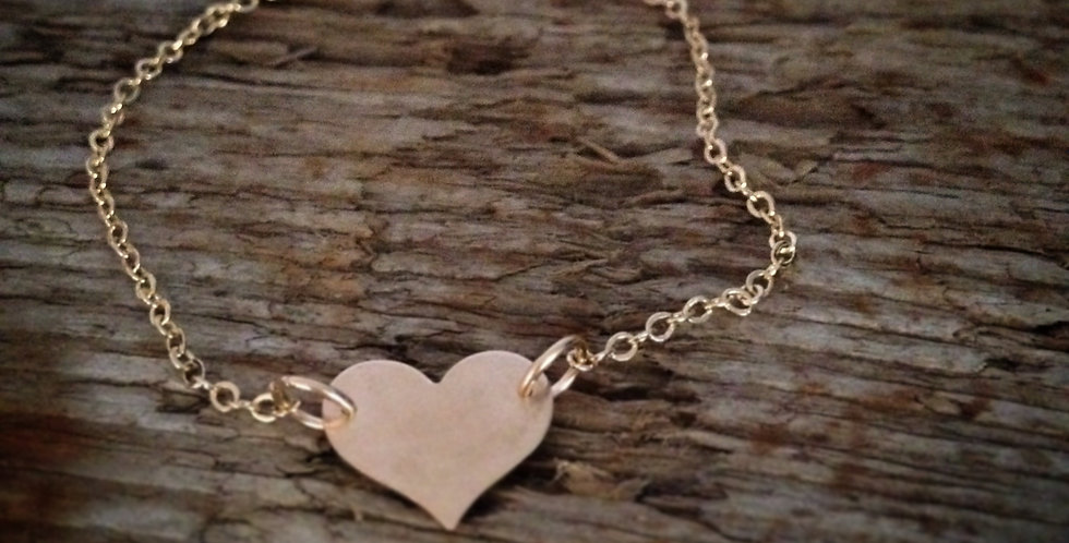 Filled Gold Heart Bracelet Can Be Personalised