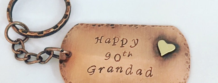 Personalised Copper Dogtag Keyring