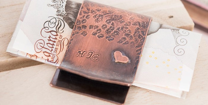 Personalised Money Clip Made In Copper