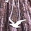 Thumbnail: Sterling Silver Simple Seagull Bird Necklace