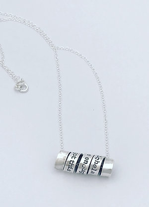 Personalised Silver Message Scroll Necklace
