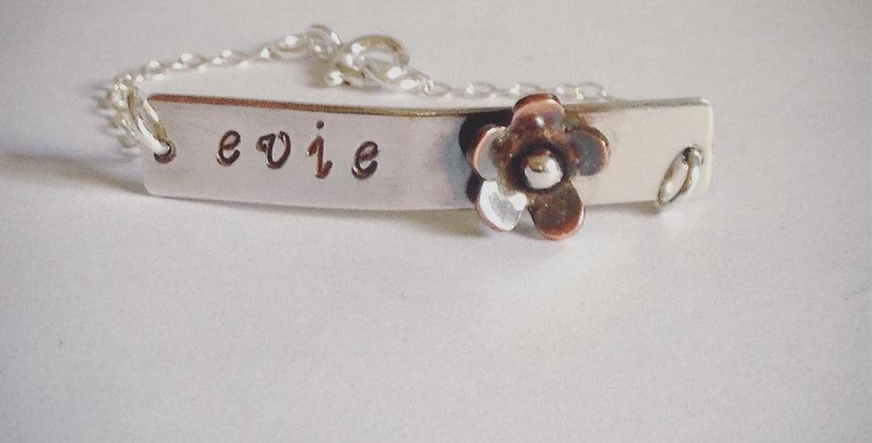 Sterling Silver Girls Name Bracelet