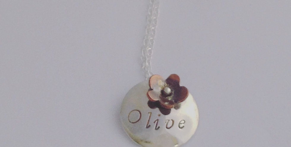 Sterling Silver Girls Name Necklace - Lovely Christening Gift