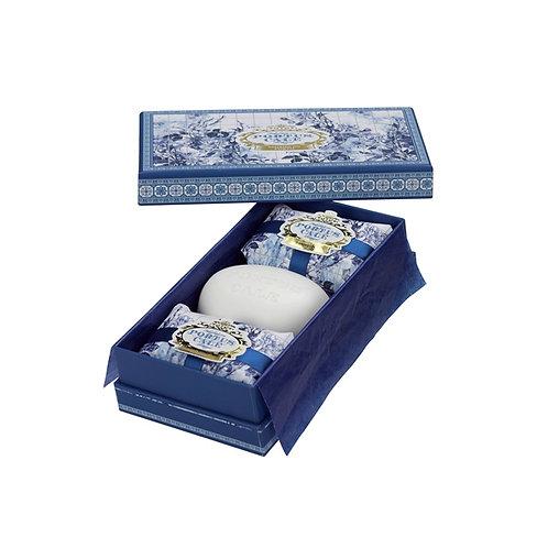 Castelbel Caixa Sabonetes Portus Cale Gold & Blue 3x150g