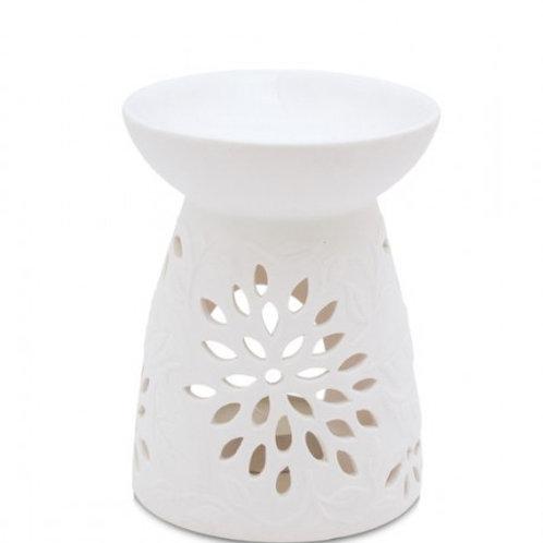 Heart & Home Queimador Para Cera Líquida Perfumada Floral Branco
