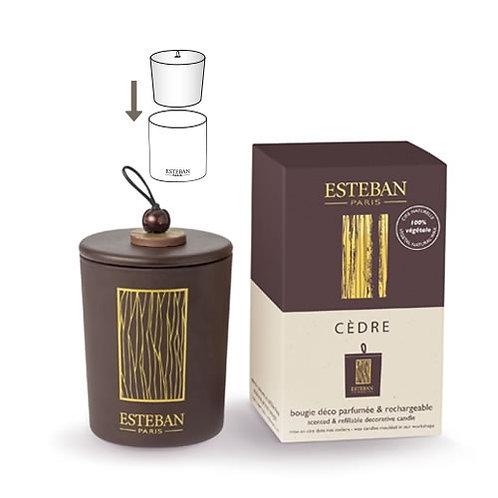 Esteban Vela Perfumada Recarregável Cèdre 170g
