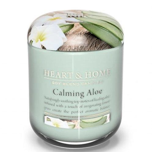 Heart & Home Vela Perfumada Aloe Calmante 340g