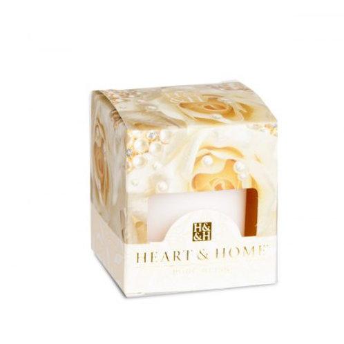 Heart & Home Vela Votivo Perfumada Bouquet de Pérolas