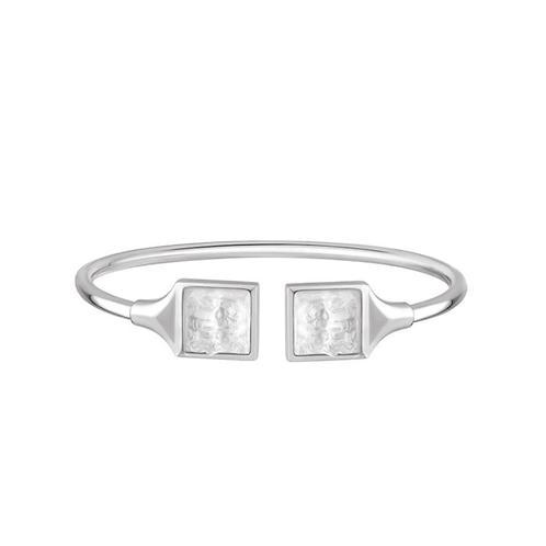 Lalique Pulseira Flexível Prata Arethuse