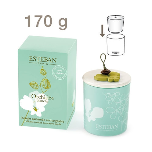 Esteban Vela Perfumada Recarregável Orchidee Blanche 170g