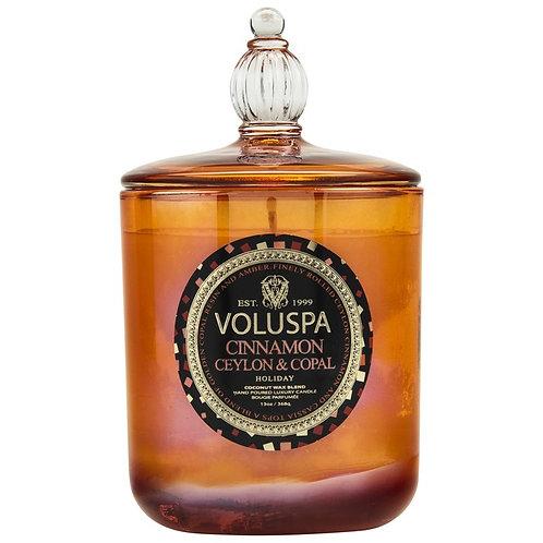 Voluspa Vela Perfumada Jarro Vidro Grande Cinnamon Ceylon & Copal