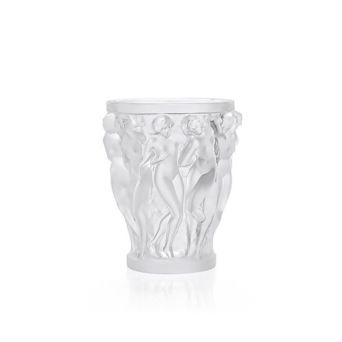 Lalique Vaso Bacchantes Pequeno Cristal Claro