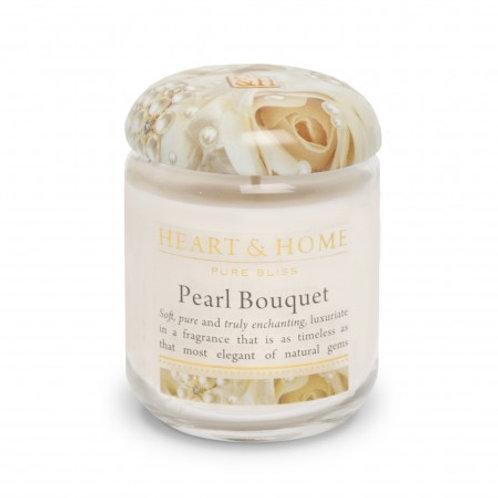 Heart & Home Vela Perfumada Bouquet de Pérolas 115g