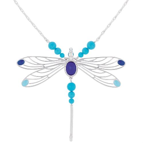 Lalique Colar Libellule Azul Safira