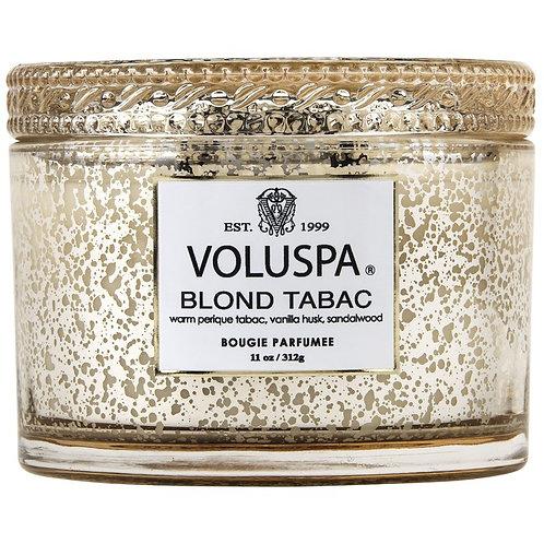 Voluspa Vela Perfumada Vidro Com Tampa 2 PaviosBlond Tabac