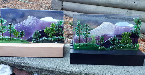 Fused Glass Cremation Memorial, Ashes to Art