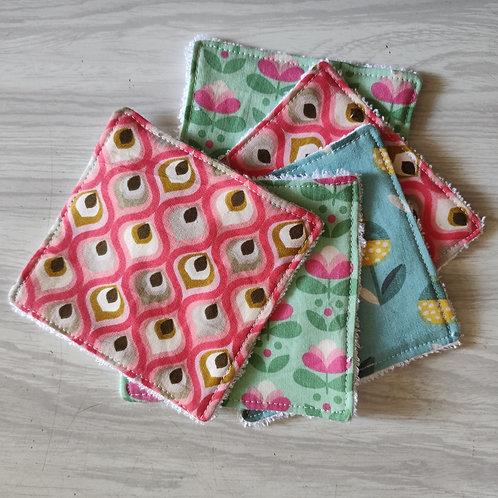 Lingettes lavables en coton Oeko-Tex