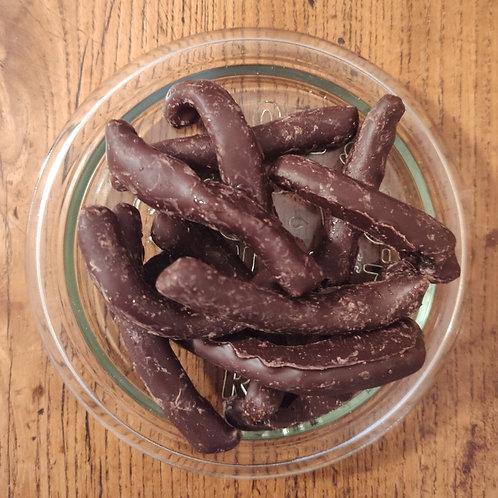 Orangettes confites au chocolat noir - 100 g