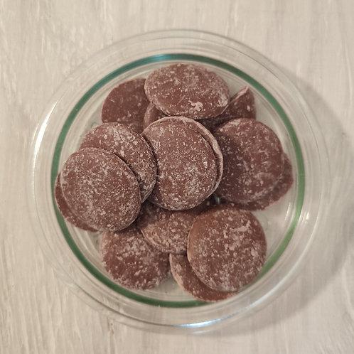 Palets de chocolat au lait - 100 g