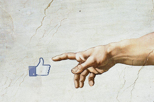 Facebook likes, social media, Giclee print from Tony Leone, Digital and Pop art artwork at Deep West Gallery