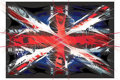 British flag, Digital art, urban artwork by Andrea Visconti at Deep West Gallery