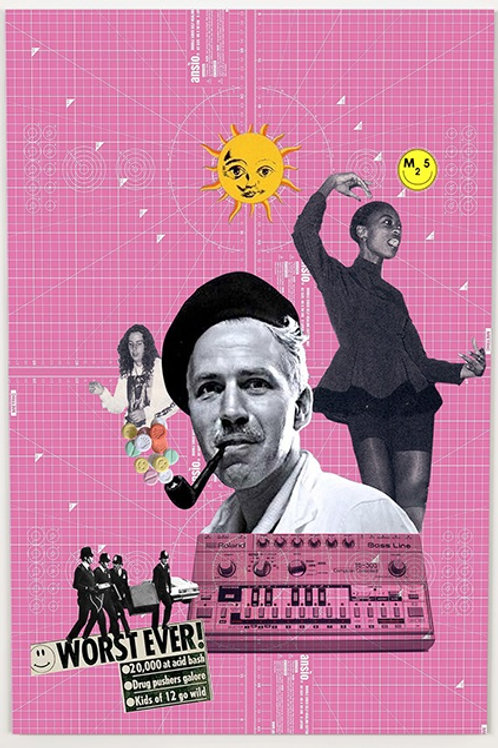Summer of love  print from Phil Bedford, Urban (collage ) art artwork at Deep West Gallery