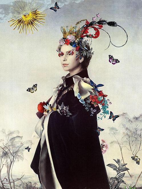 Elizabeth queen print, Urban and Street art by Kristjana S Williams at Deep West Gallery