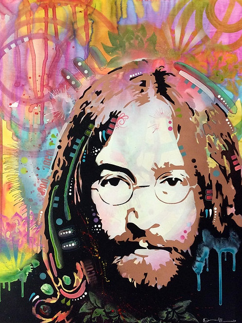 Lennon Portrait Spray painting, Street art by Dean Russo at Deep West Gallery