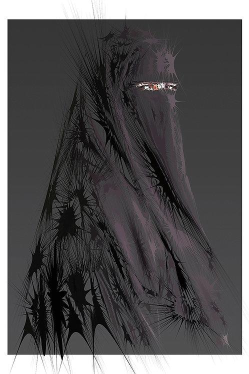 Undercover in black portrait, Digital art, urban artwork by Andrea Visconti at Deep West Gallery