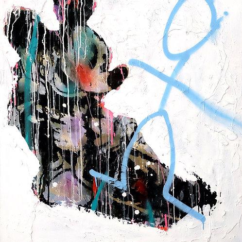 mouse  spray painting from Zsolt Gyarmati Street (Graffiti ) original artwork at Deep West Gallery