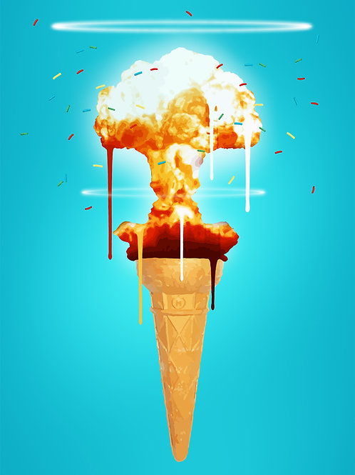 Ice Cream Meltdown , Giclee print, Pop art, by Carl Moore at Deep West Gallery