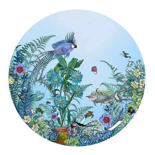 circular sea born tree print, Urban and Street art by Kristjana S Williams at Deep West Gallery