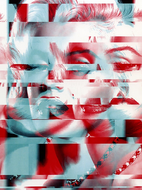 Marilyn abstract portrait print and original work, Pop art by Agent X at Deep West Gallery