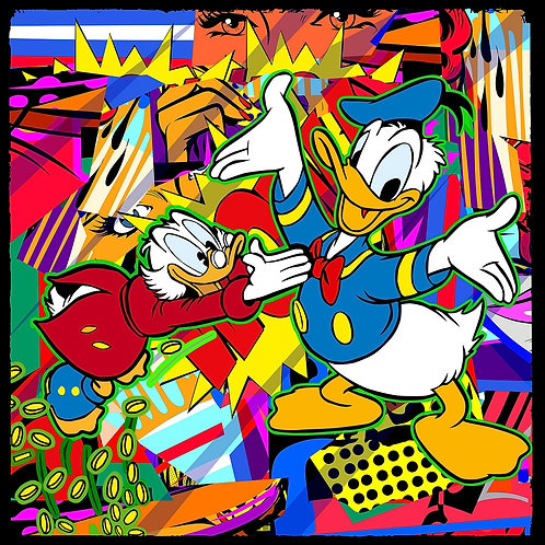 Duck family  portrait,  by pop art by Agent X at Deep West Gallery