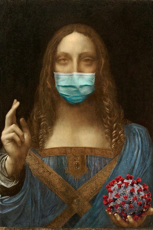Corona Mundi Giclee print from Tony Leone, Digital and Pop art artwork at Deep West Gallery