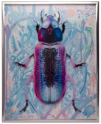 Neon bugs, purple and blue  - Dominic Vonbern' s street artwork ( digital artworks )at Deep West Gallery