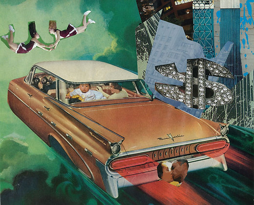 Asian culture, cars with kids from Agent X's Urban art at Deep West Gallery