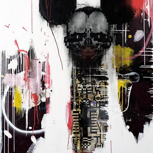 Escape spray painting from Zsolt Gyarmati Street (Graffiti ) original artwork at Deep West Gallery