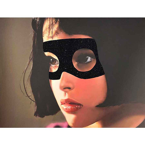 Masked Matilda  portrait, Giclee print from Shuby, Urban and Street  art artwork at Deep West Gallery