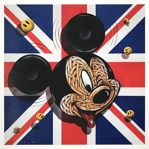 Party Time ( Micky Mouse ) giclee print from Otto Schade Street (Graffiti ) artwork at Deep West Gallery