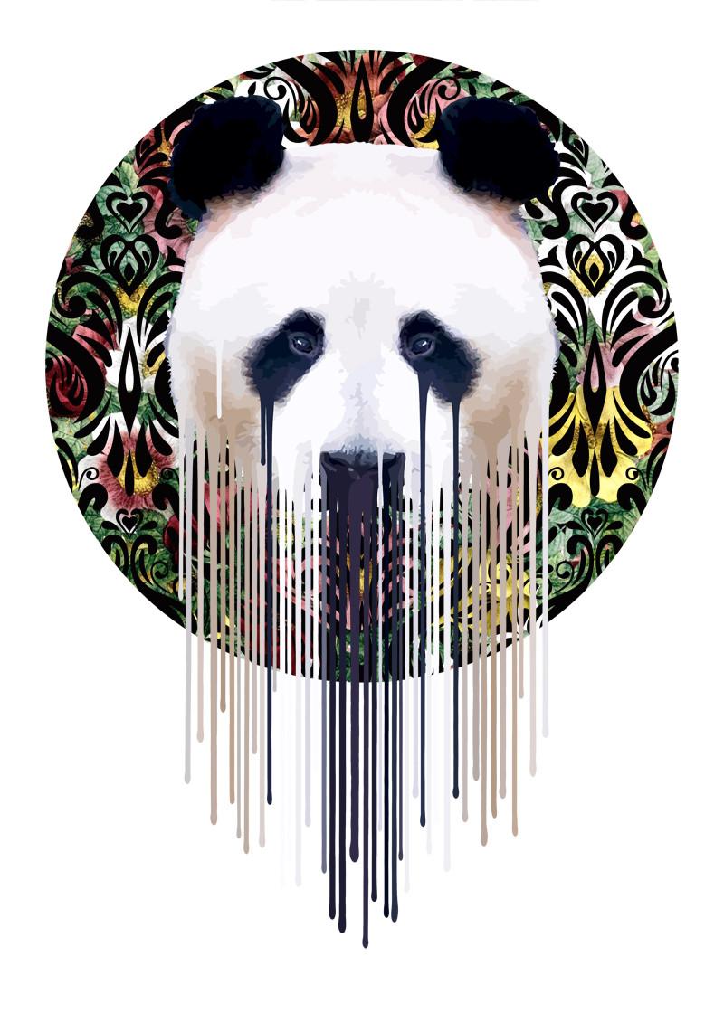 panda,flower