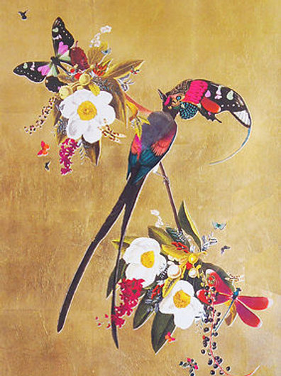 Butterflies, flowers and birds print, Urban and Street art by Kristjana S Williams at Deep West Gallery