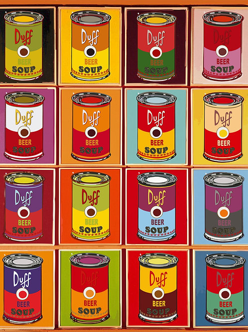 Canned food, Giclee print from Tony Leone, Digital and Pop art artwork at Deep West Gallery