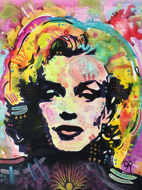 Marilyn Portrait Spray painting, Street art by Dean Russo at Deep West Gallery