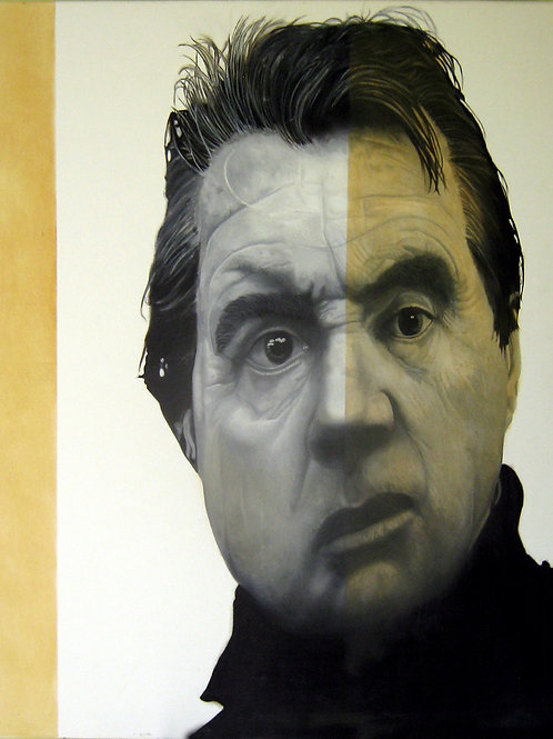 Francis Bacon portrait oil painting, urban art from Alfonso Ragone at Deep West Gallery